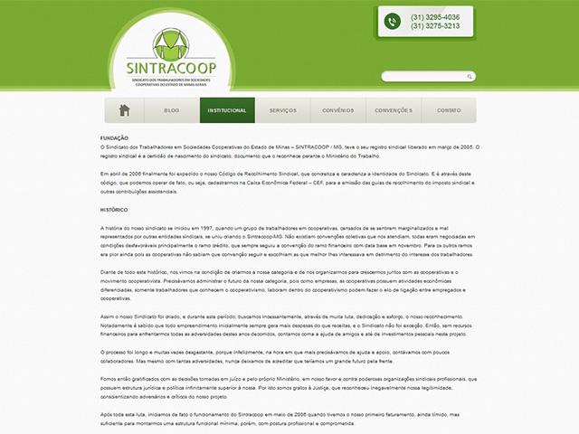 CRIAÇÃO DE SITES: WEBSITE SINTRACOOP – WORDPRESS