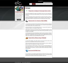 CRIAÇÃO DE SITES: WEBSITE ETC COMUNICAÇÃO – WORDPRESS