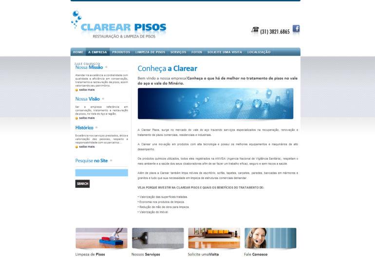 CRIAÇÃO DE SITES: WEBSITE CLAREAR PISOS – WORDPRESS