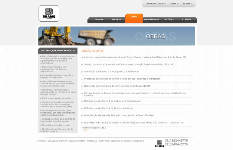 CRIAÇÃO DE SITES: WEBSITE DHAMQ – WORDPRESS