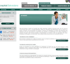 CRIAÇÃO DE SITES: WEBSITE HOSPITAL BELVEDERE