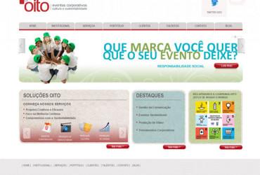 CRIAÇÃO DE SITES: WEBSITE OITO EVENTOS