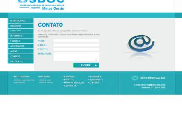 CRIAÇÃO DE SITES: WEBSITE SBOC MG