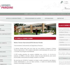CRIAÇÃO DE SITES: WEBSITE HERMES PARDINI