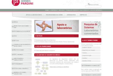 CRIAÇÃO DE SITES: WEBSITE HERMES PARDINI