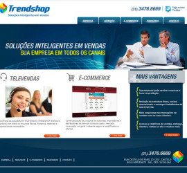 CRIAÇÃO DE SITES: WEBSITE TRENDSHOP