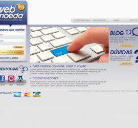 CRIAÇÃO DE SITES: WEBSITE WEBMOEDA