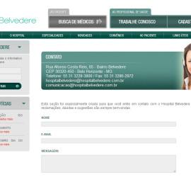 CRIAÇÃO DE SITES: WEBSITE HOSPITAL BELVEDERE – WORDPRESS
