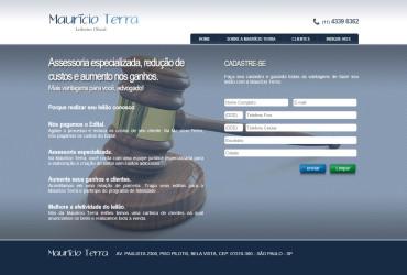 CRIAÇÃO DE SITES: HOTSITE MAURÍCIO TERRA – WORDPRESS