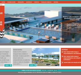 CRIAÇÃO DE SITES: WEBSITE SAMBA HOTÉIS – WORDPRESS