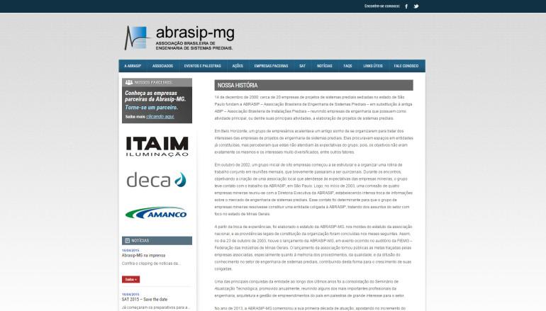 CRIAÇÃO DE SITES: WEBSITE ABRASIP/MG – WORDPRESS