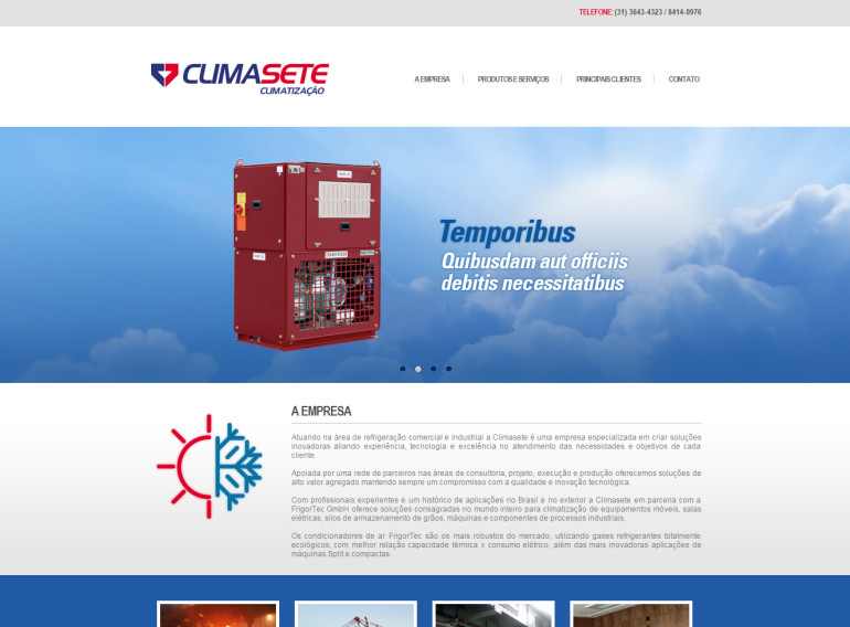 CRIAÇÃO DE SITES: WEBSITE CLIMA SETE