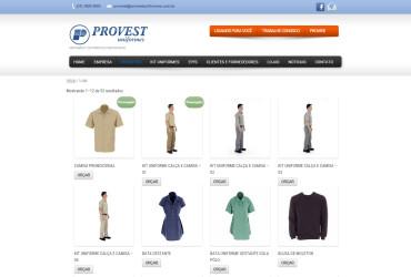 CRIAÇÃO DO SITE PROVEST UNIFORMES: WEBSITE WORDPRESS