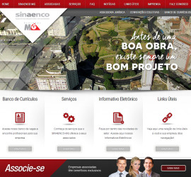 CRIAÇÃO DE SITES: WEBSITE SINAENCO/MG – WORDPRESS